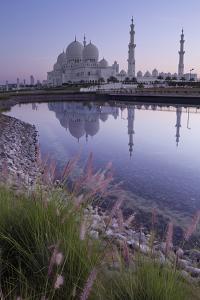 Sheikh Zayed Grand Mosque at Sunrise; Abu Dhabi, United Arab Emirates by Design Pics Inc