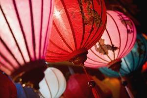 Silk Lanterns Illuminated at Night in Hoi An by Design Pics Inc