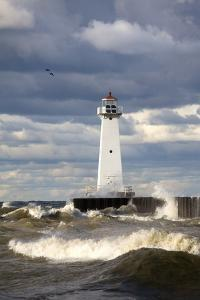 Sodus Outer Lighthouse on Stormy Lake Ontario; Sodus Point, New York, USA by Design Pics Inc
