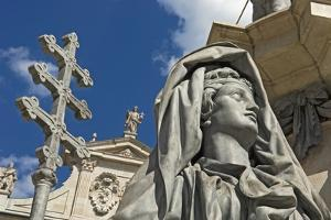 Statue at Domplatz Cathedral, Close Up by Design Pics Inc
