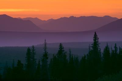Sunset over Kluane Mountains Near Haines Highway British Columbia Canada Summer by Design Pics Inc
