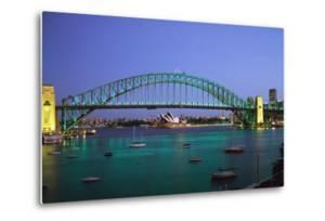 Sydney Harbour Bridge at Dusk with Opera House Behind by Design Pics Inc