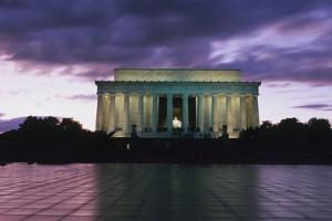 The Lincoln Memorial at West End of National Mall at Dusk by Design Pics Inc