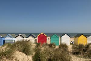 Traditional Beach Huts in the Sand Dunes at Southwold, Suffolk, Uk David Potter by Design Pics Inc