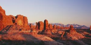 Utah, United States of America; the Garden of Eden Formations at Sunset in Arches National Park by Design Pics Inc
