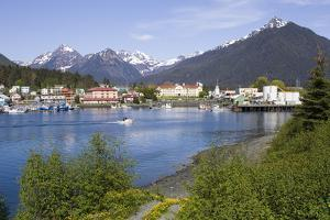 View of Sitka with Sitka Channel in the Foreground Alaska Southeast Summer by Design Pics Inc