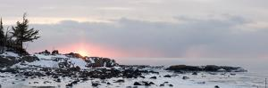 Winter Along Lake Superior at Sunrise; Minnesota, USA by Design Pics Inc