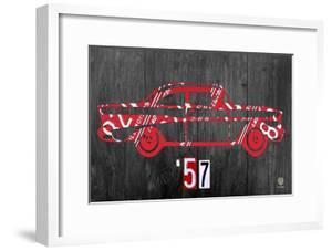 57 Chevy License Plate Art by Design Turnpike