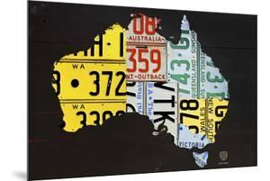 Australia License Plate Map by Design Turnpike