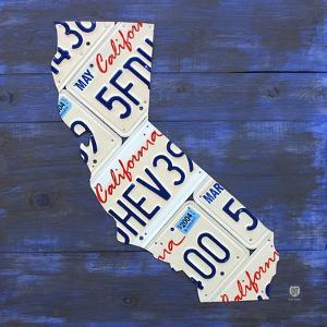 California License Plate Map by Design Turnpike