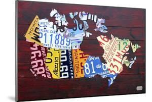 Canada License Plate Map by Design Turnpike