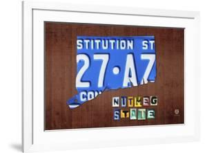 Connecticut License Plate Map by Design Turnpike