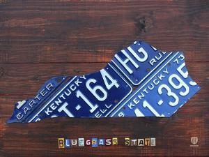 Kentucky License Plate Map by Design Turnpike