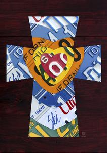 License Plate Art Heart Cross by Design Turnpike