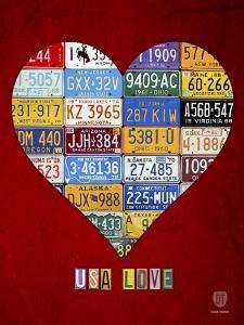 License Plate Art Heart by Design Turnpike