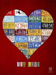 License Plate Art Heart by Design Turnpike
