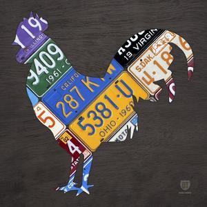 License Plate Art Rooster by Design Turnpike
