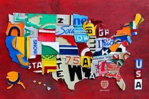 License Plate Map Miniature by Design Turnpike