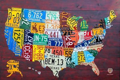License Plate Map USA Large