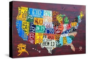 License Plate Map USA Large by Design Turnpike
