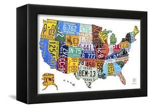 License Plate Map USA by Design Turnpike