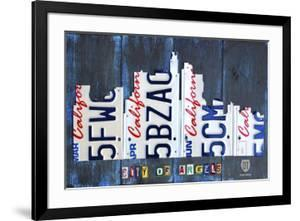 Los Angeles Skyline License Plate Art by Design Turnpike