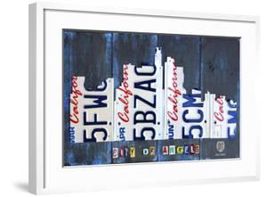 Los Angeles Skyline License Plate Art by Design Turnpike