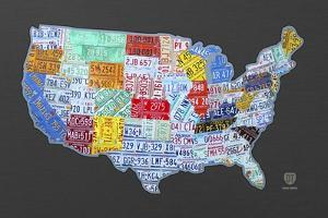Massive USA License Plate Map by Design Turnpike