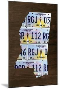 Mississippi License Plate Map by Design Turnpike