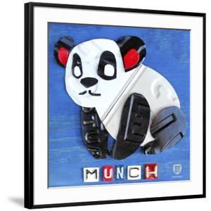 Munch the Panda License Plate Art by Design Turnpike