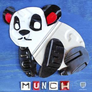 Munch the Panda License Plate Art by Design Turnpike
