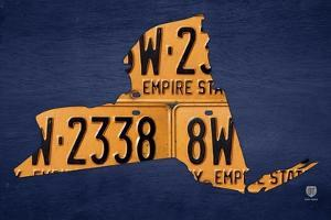 New York License Plate Map by Design Turnpike