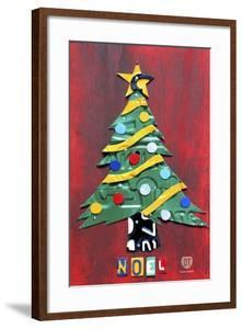 Noel Christmas Tree License Plate Art by Design Turnpike