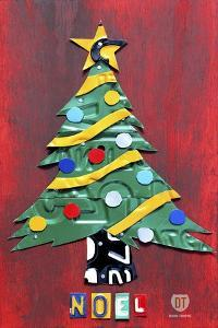 Noel Christmas Tree License Plate Art by Design Turnpike