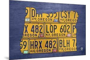 Oregon License Plate Map by Design Turnpike