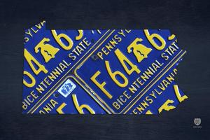 Pennsylvania License Plate Map by Design Turnpike