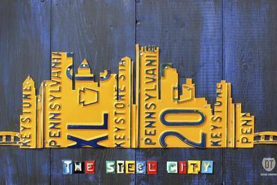 Pittsburgh Skyline License Plate Art