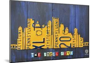 Pittsburgh Skyline License Plate Art by Design Turnpike