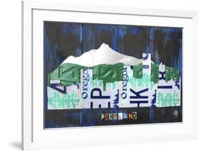 Portland Skyline License Plate Art by Design Turnpike