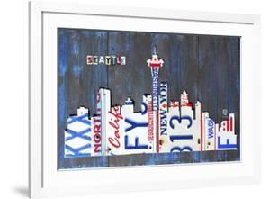 Seattle Skyline License Plate Art by Design Turnpike