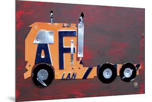Semi Truck License Plate Art by Design Turnpike