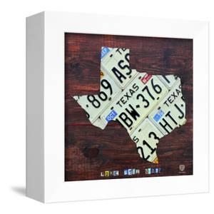Texas License Plate Map Large by Design Turnpike