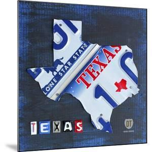 Texas License Plate Map by Design Turnpike