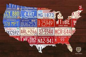 USA Flag Map by Design Turnpike