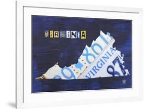 Virginia License Plate Map by Design Turnpike
