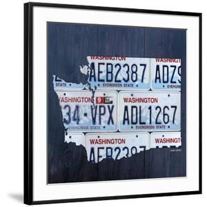 Washington License Plate Map by Design Turnpike