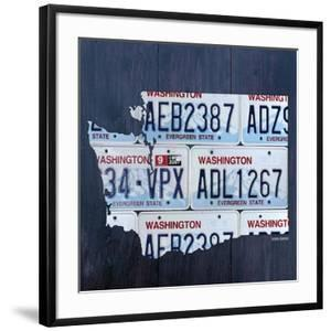 Washington License Plate Map by Design Turnpike