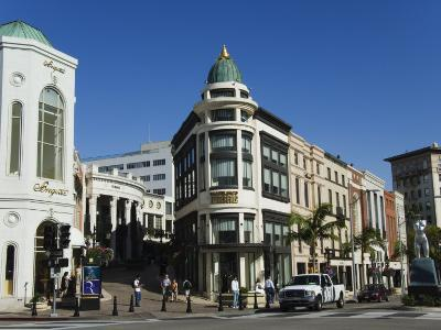 Designer Boutiques in Rodeo Drive, Beverly Hills, Los Angeles, California, USA-Kober Christian-Photographic Print