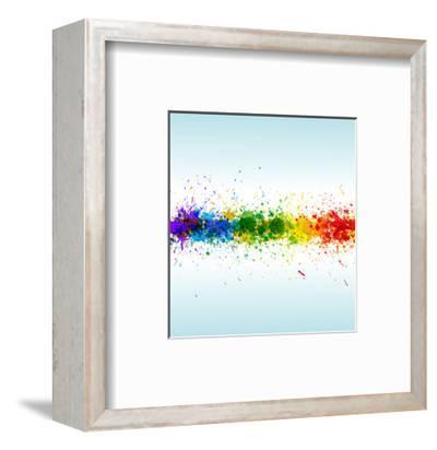 Color Paint Splashes. Gradient