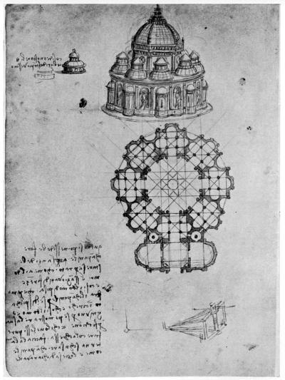 Designs for a Central Church, C1488-Leonardo da Vinci-Giclee Print